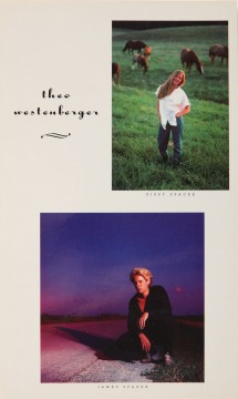 Theo Westenberger, printed card, self-promotion, with Sissy Spacek and James Spader, circa 1985