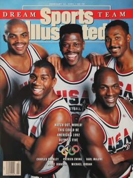 Charles Barkley, Patrick Ewing, Karl Malone, Magic Johnson, Michael Jordan, Sports Illustrated, February 18, 1991.
