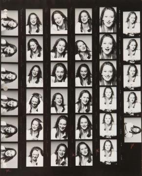 Meryl Streep, contact sheet, New York, 1977