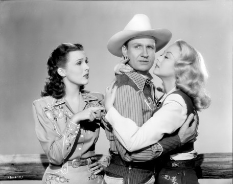1604_47: Lynne Roberts, Gene Autry, and Adele Mara in Robin Hood of Texas, © 1947 Autry Qualified Interest Trust and The Autry Foundation