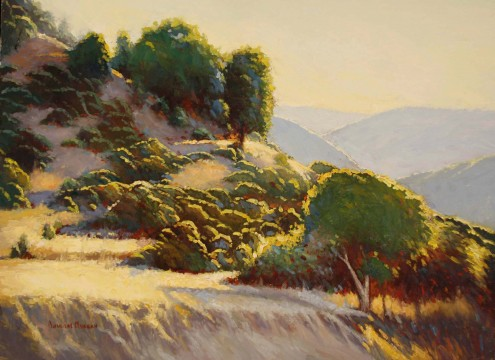 Douglas Morgan, California Gold, oil-on-canvas, 18 in. x 24 in.