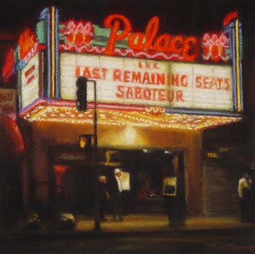 Nancy Popenoe, Palace Theater, soft pastel, 10 in. x 10 in.