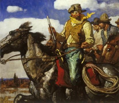 Western Characters on Horseback