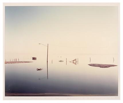 Richard Misrach, Submerged Lamppost, Salton Sea
