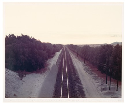 Richard Misrach, Train Tracks, Colorado Desert, California