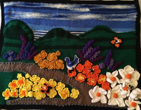 The Lone Wools, Native Landscape with Flowers
