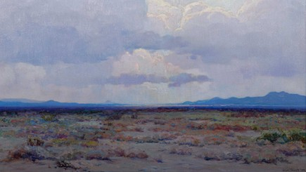 John Frost (United States, 1890–1937), Desert Twilight, 1924, oil on canvas. Courtesy of Gardena High School Student Body, Class of Winter 1928