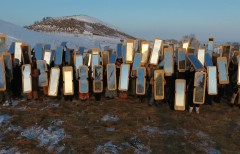 Mirror shields, photo by Cannupa Hanska Luger