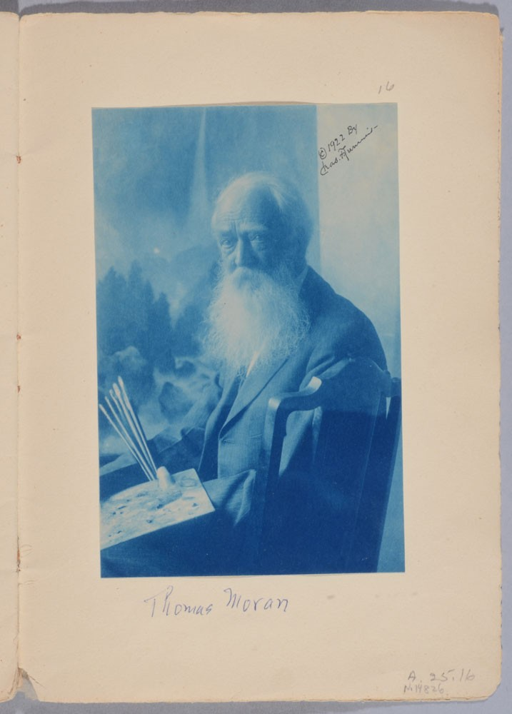 A Portrait of Thomas Moran, Lummis Family Album, 1922. Autry Museum of the American West; A.25.16