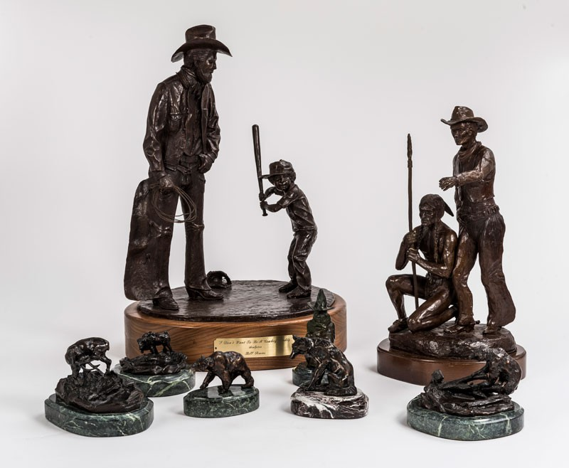 Eight bronzes that were part of Gene Autry's personal collection.