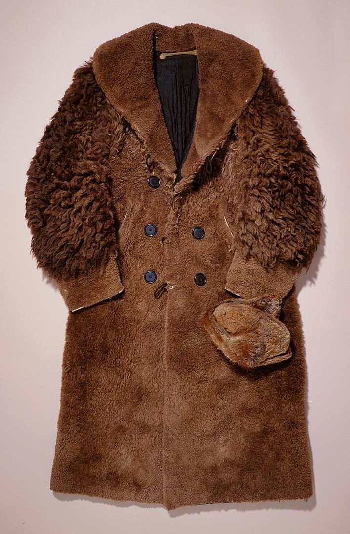 Buffalo hide, cloth lining